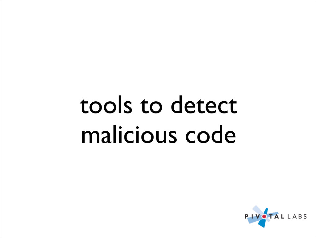 tools to detect malicious code