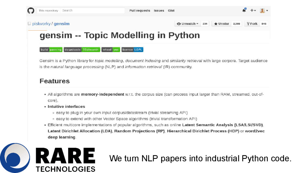 Streaming We turn NLP papers into industrial Py...