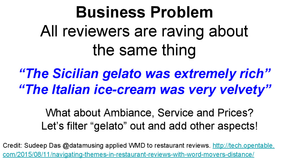 Business Problem All reviewers are raving about...