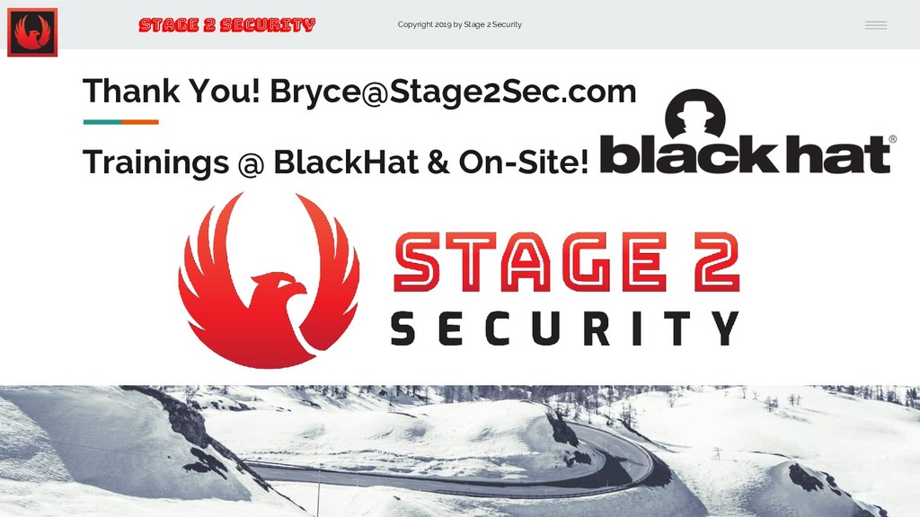 Copyright 2019 by Stage 2 Security Stage 2 Secu...