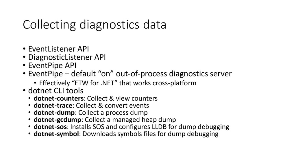 Collecting diagnostics data • EventListener API...