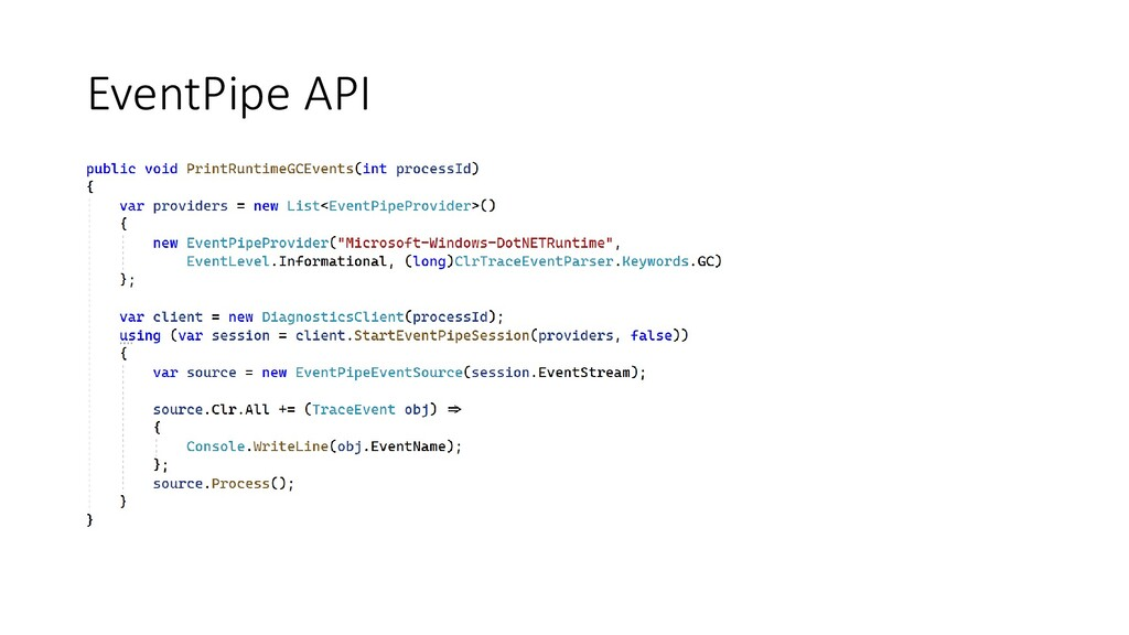 EventPipe API