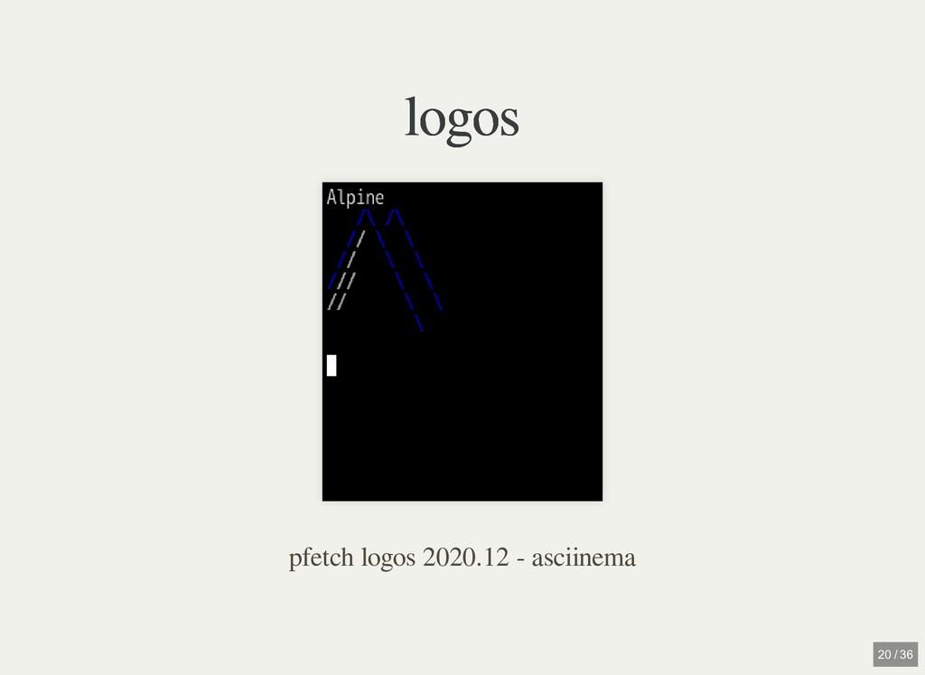 logos logos pfetch logos 2020.12 - asciinema 20...