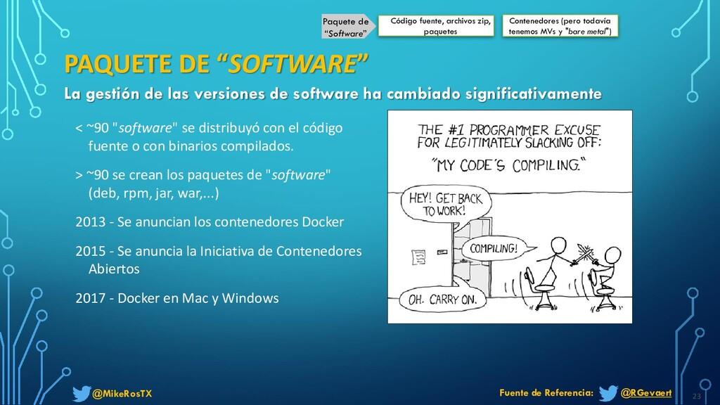"@MikeRosTX < ~90 ""software"" se distribuyó con e..."