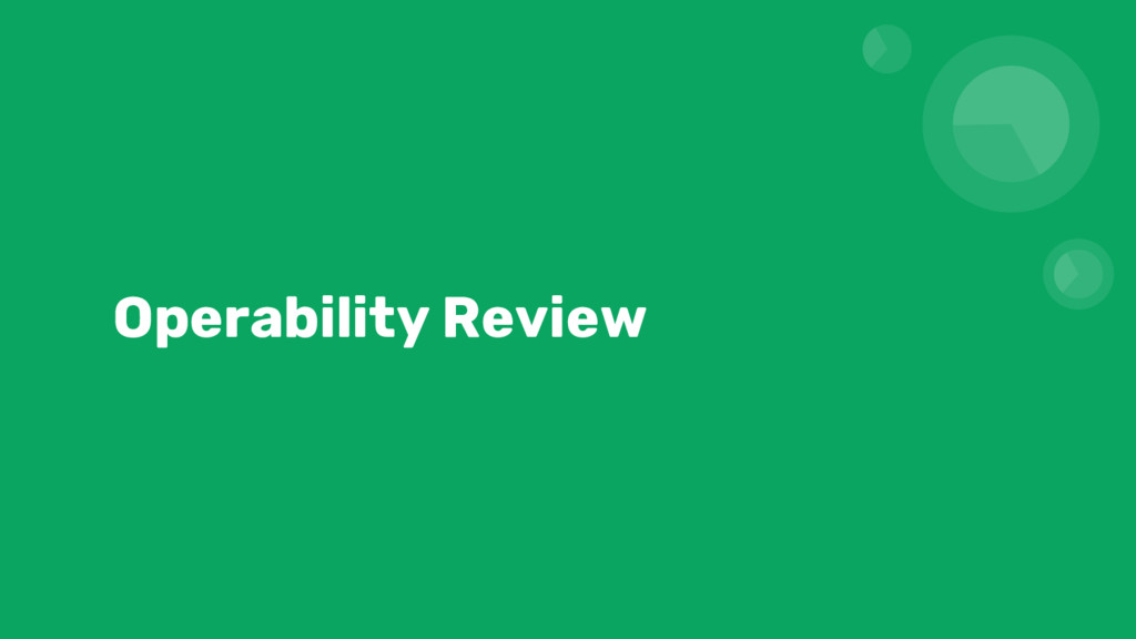 Operability Review