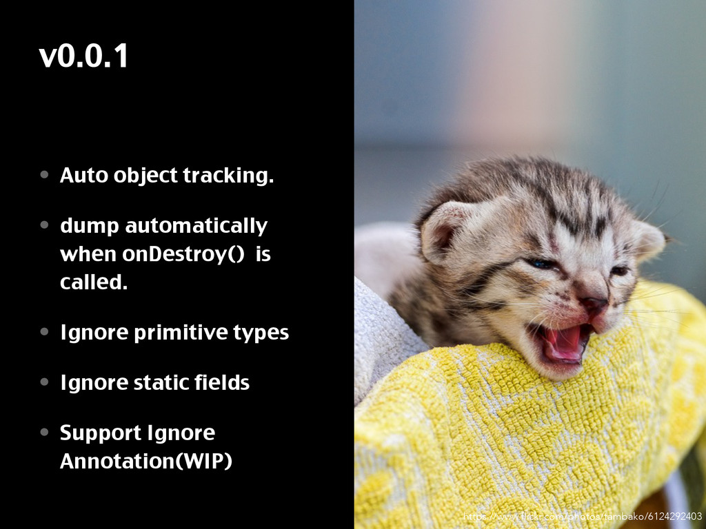 v0.0.1 • Auto object tracking. • dump automatic...