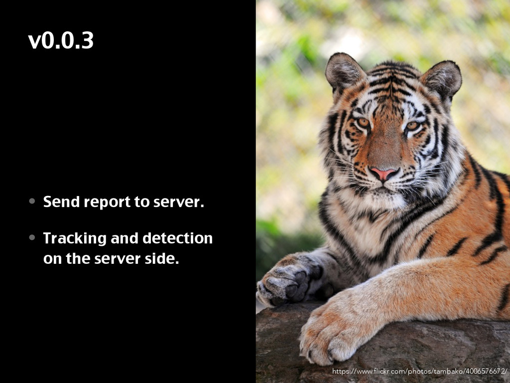 v0.0.3 • Send report to server. • Tracking and ...
