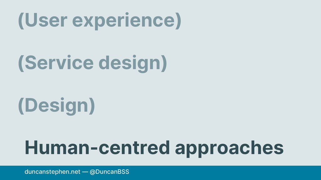 User experience) Service design) Design) Human-...