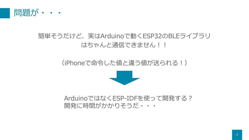 問題が・・・ 7 簡単そうだけど、実はArduinoで動くESP32のBLEライブラリ はちゃ...