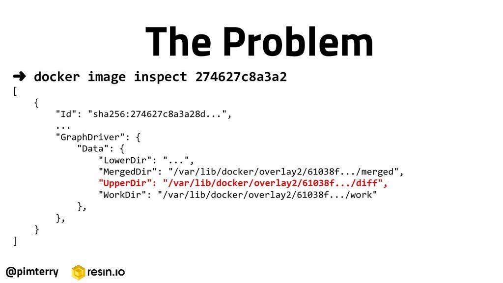 "➜ docker image inspect 274627c8a3a2 [ { ""Id"": ""..."