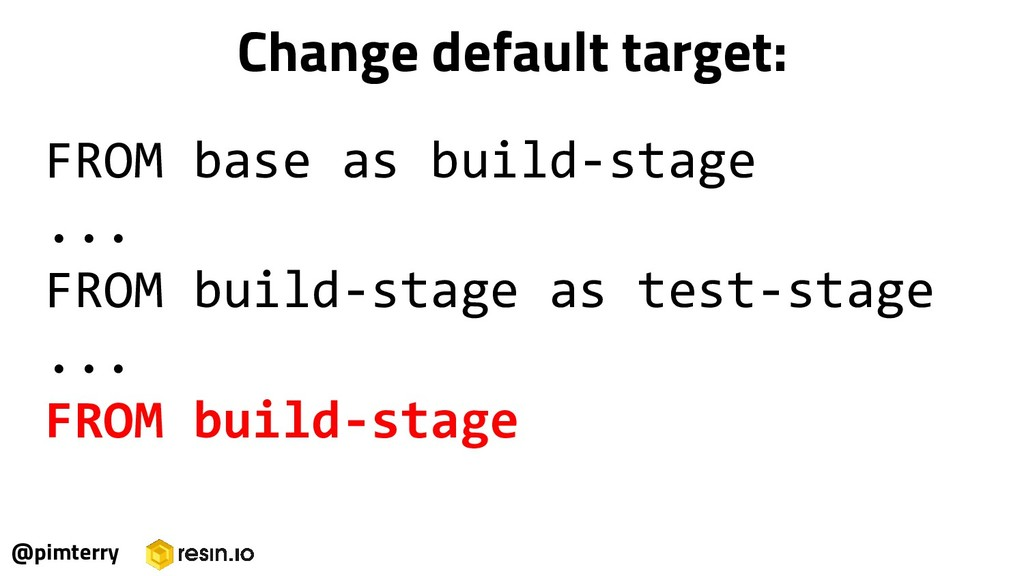 FROM base as build-stage ... FROM build-stage a...