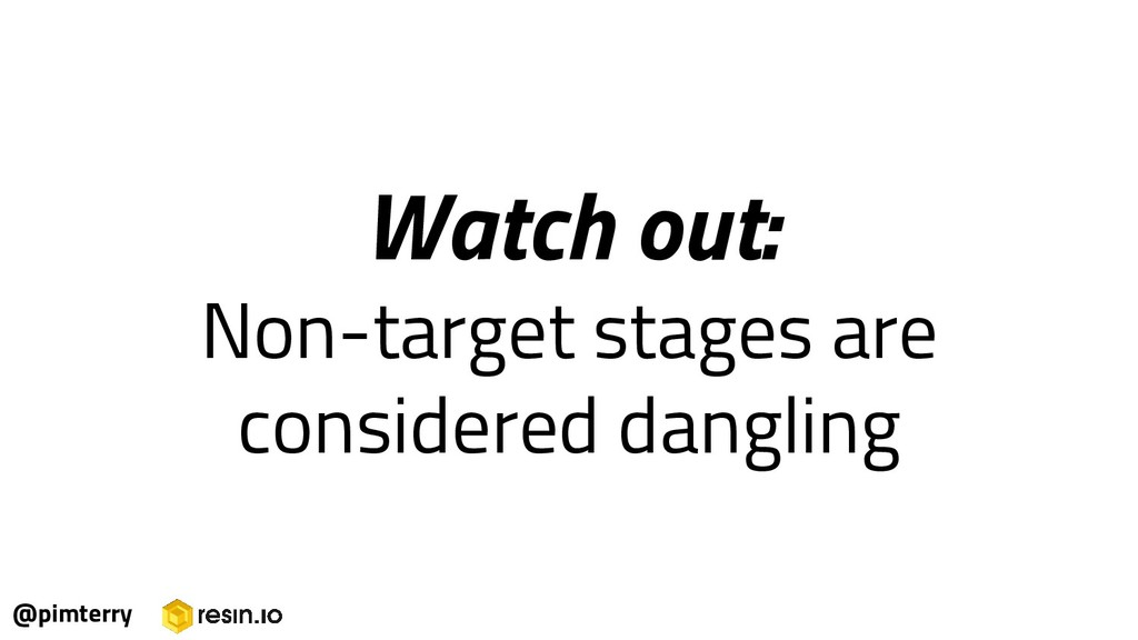 Watch out: Non-target stages are considered dan...