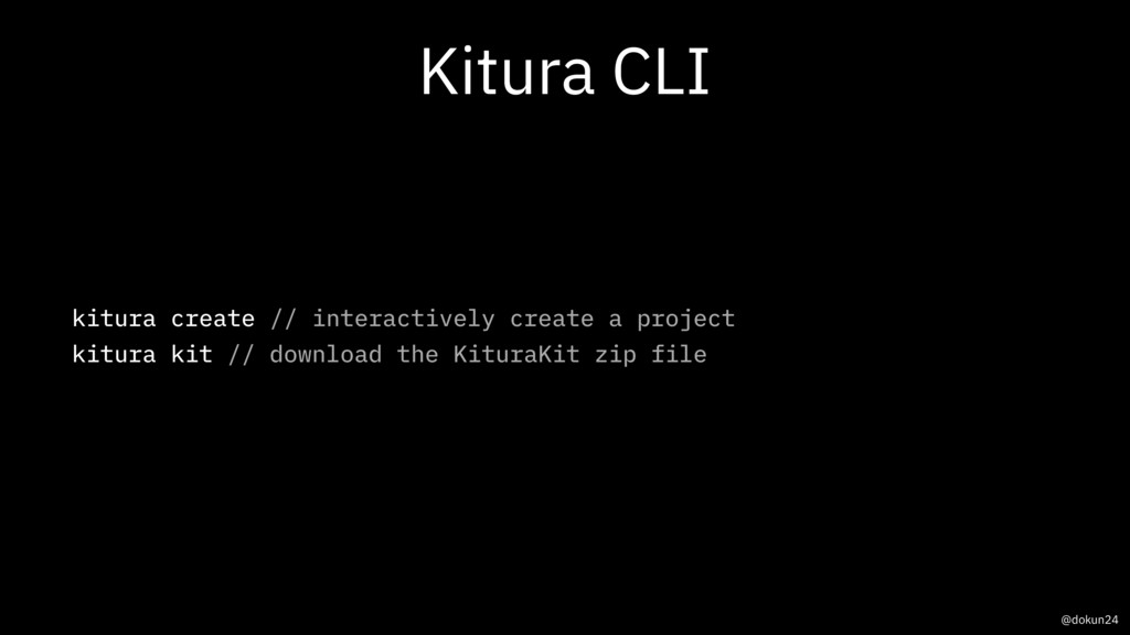 Kitura CLI kitura create // interactively creat...