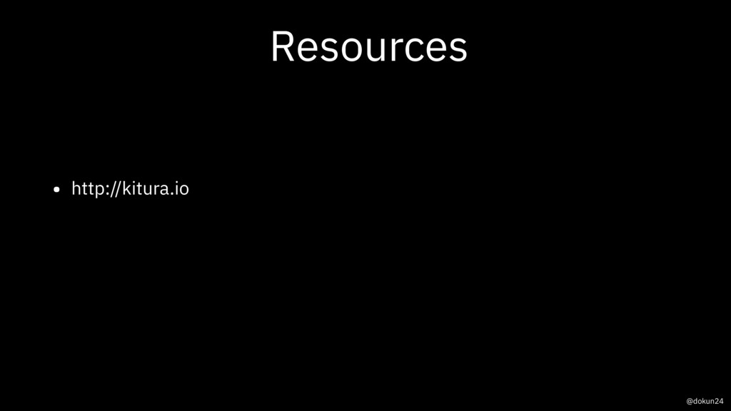 Resources • http://kitura.io @dokun24