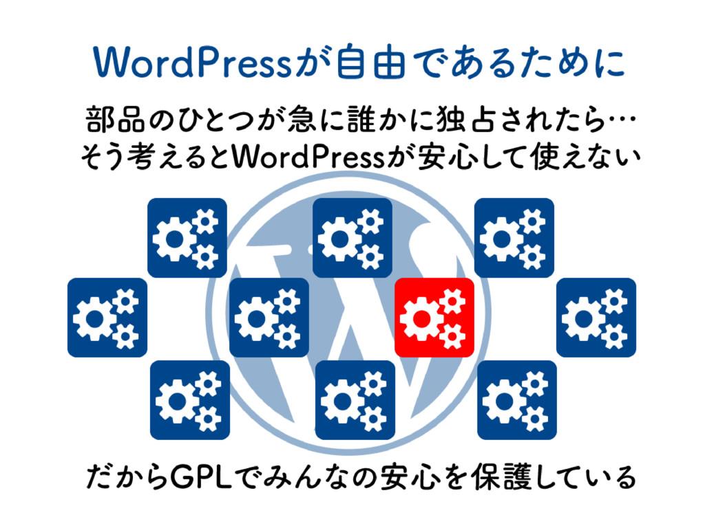WordPressが自由であるために 部品のひ とつが急に誰かに独占されたら… そ う考え ...
