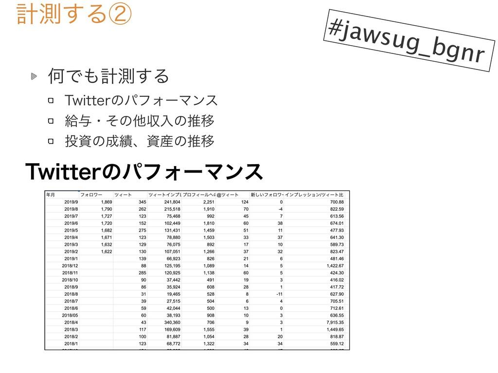 ܭଌ͢Δᶄ #jawsug_bgnr ԿͰܭଌ͢Δ 5XJUUFSͷύϑΥʔϚϯε څ༩...