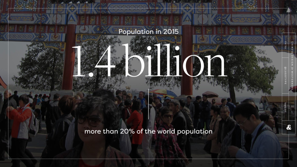 1.4 billion Population in 2015 more than 20% of...