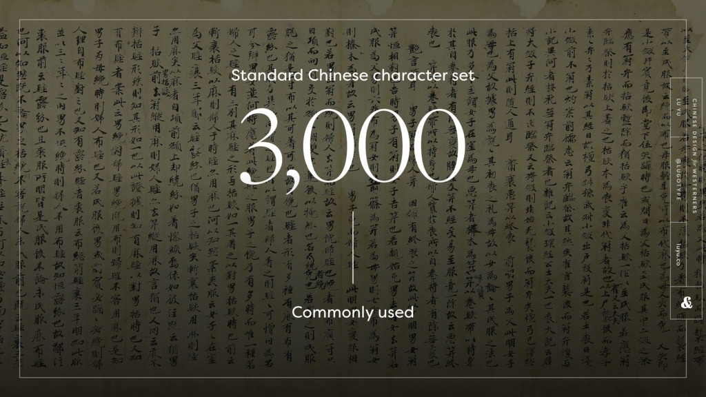 3,000 Standard Chinese character set Commonly u...