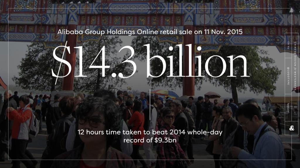 $14.3 billion 12 hours time taken to beat 2014 ...