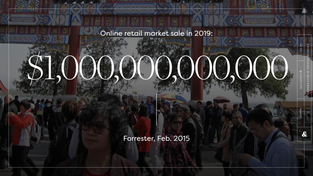 $1,000,000,000,000 Online retail market sale in...