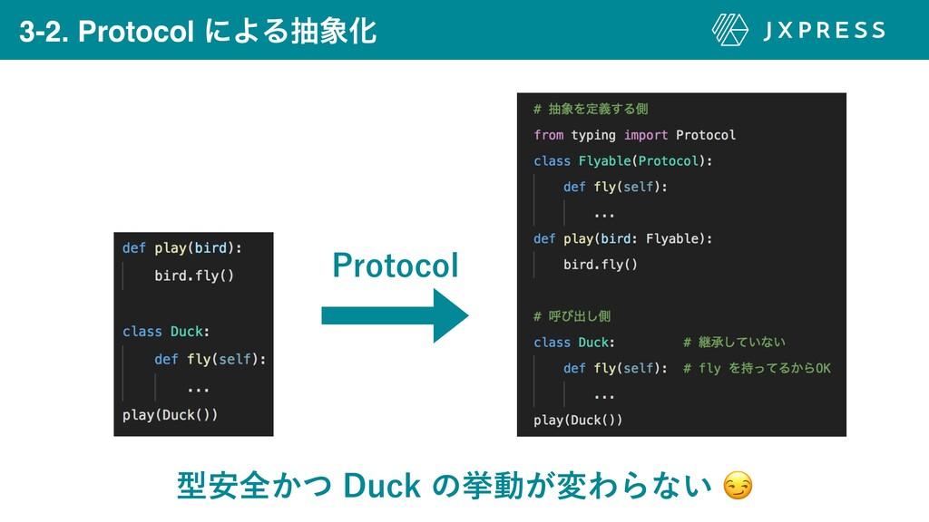 3-2. Protocol ʹΑΔநԽ ܕ҆શ͔ͭ%VDLͷڍಈ͕มΘΒͳ͍ 1SPU...