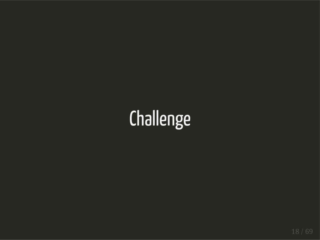 Challenge 18 / 69
