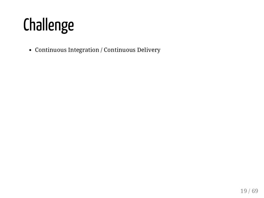 Challenge Continuous Integration / Continuous D...
