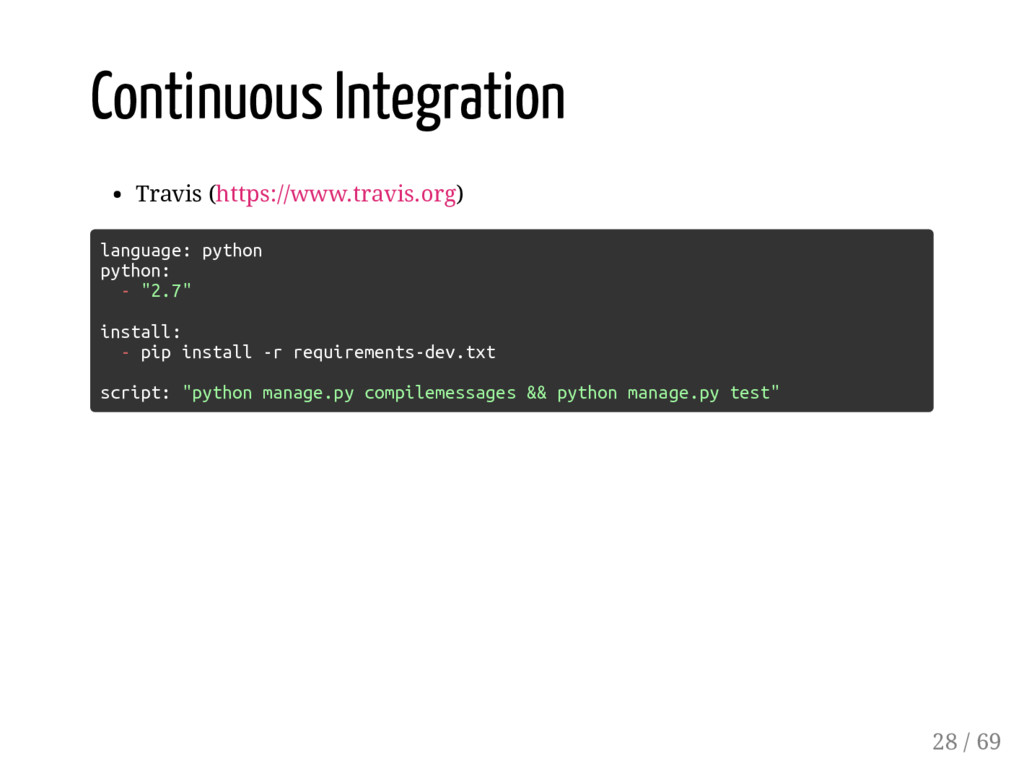Continuous Integration Travis (https://www.trav...