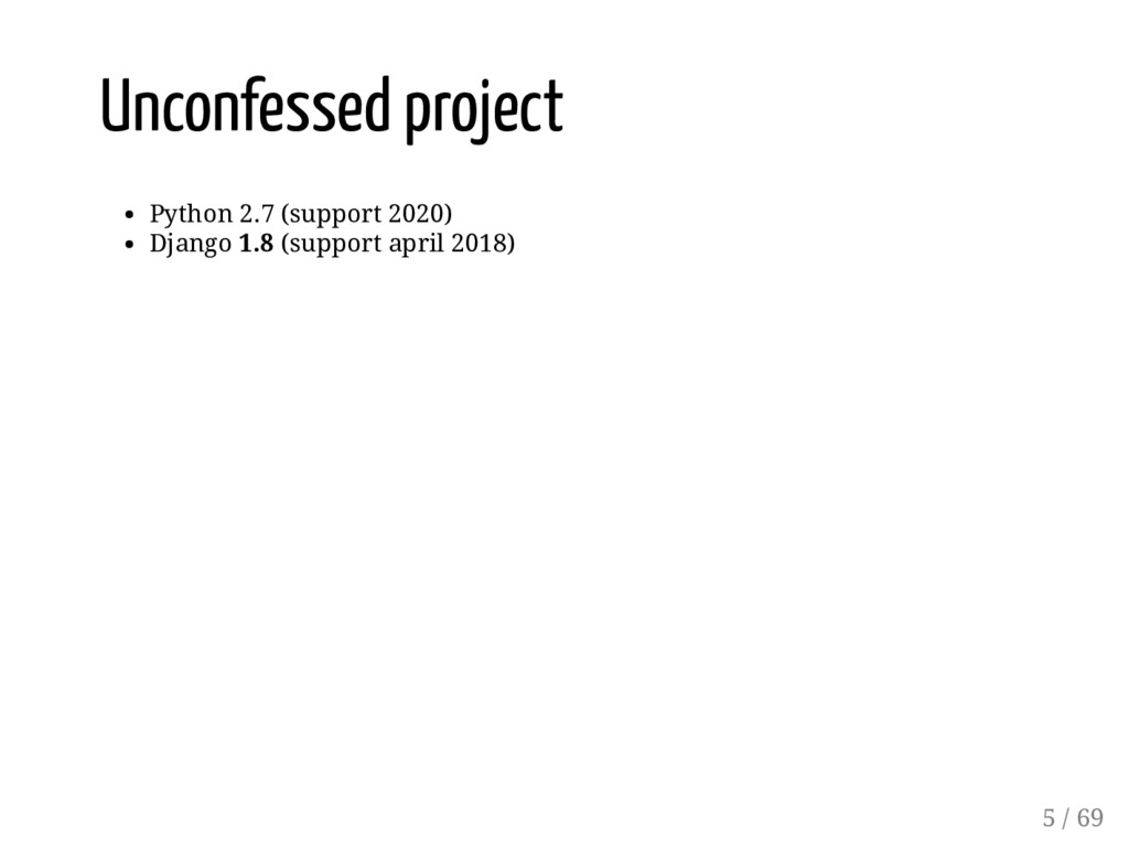 Unconfessed project Python 2.7 (support 2020) D...