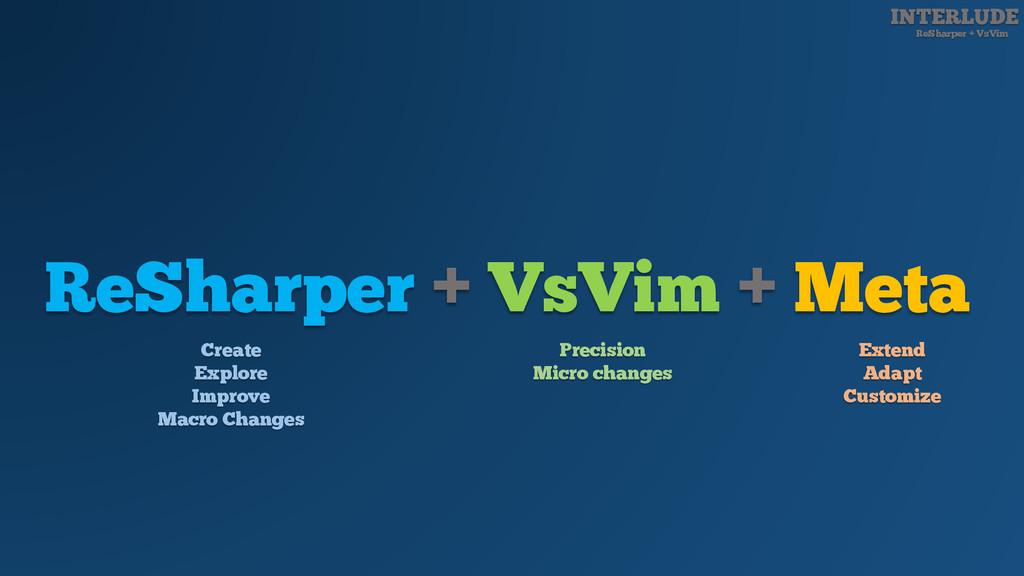 INTERLUDE ReSharper + VsVim ReSharper + VsVim +...