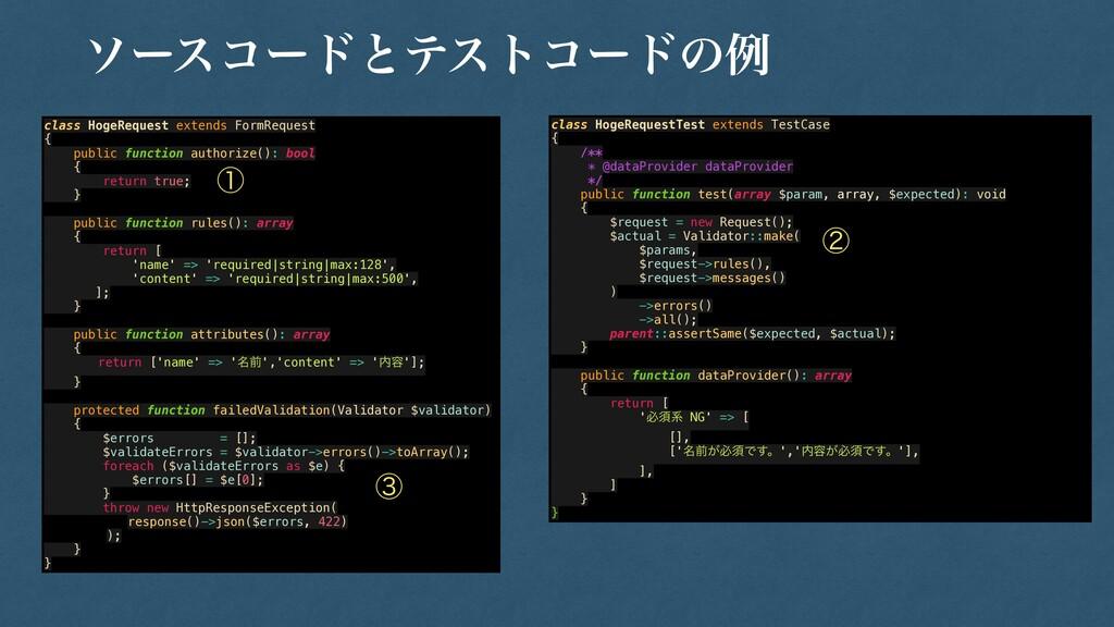 class HogeRequest extends FormRequest   {   pub...