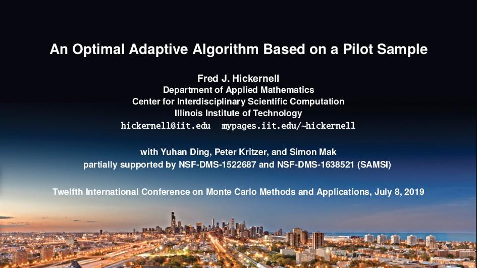 An Optimal Adaptive Algorithm Based on a Pilot ...