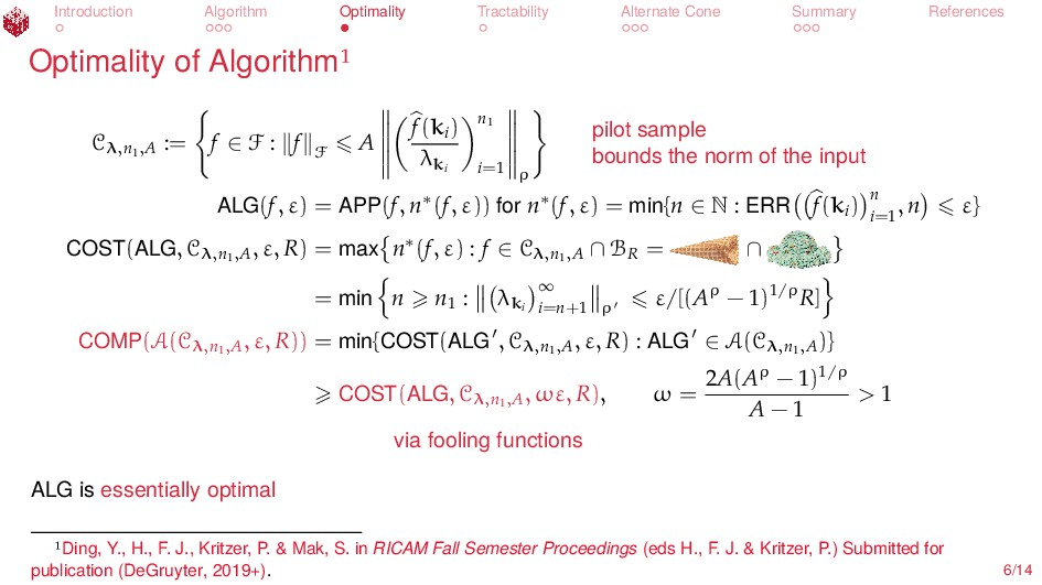 Introduction Algorithm Optimality Tractability ...
