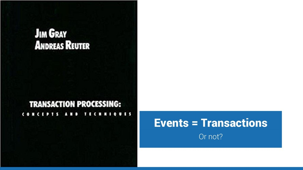 Events = Transactions Or not?