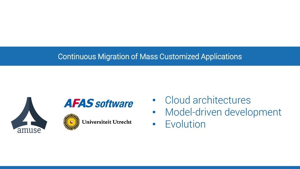 Continuous Migration of Mass Customized Applica...