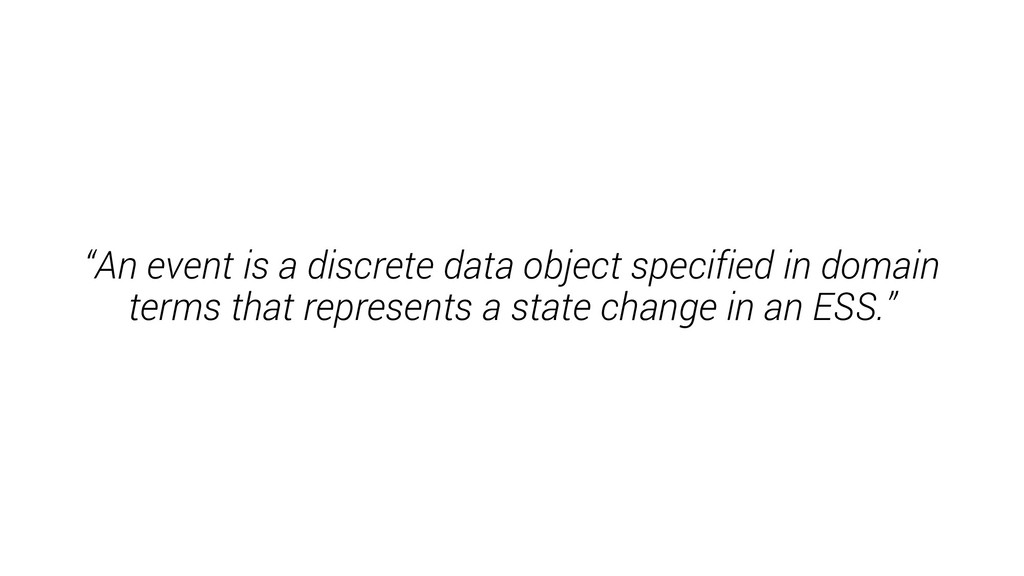 """An event is a discrete data object specified i..."