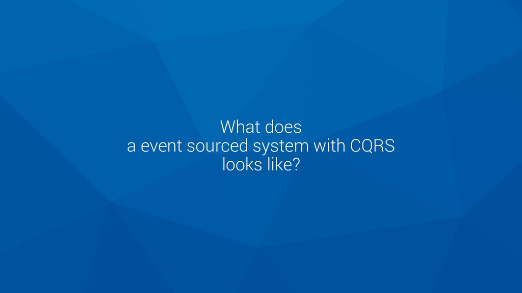 What does a event sourced system with CQRS look...