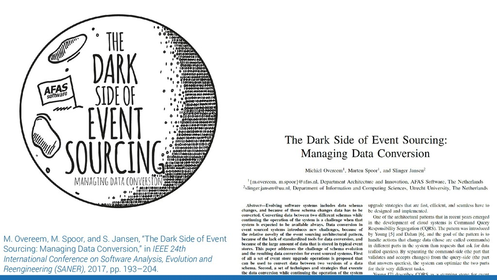 "M. Overeem, M. Spoor, and S. Jansen, ""The Dark ..."