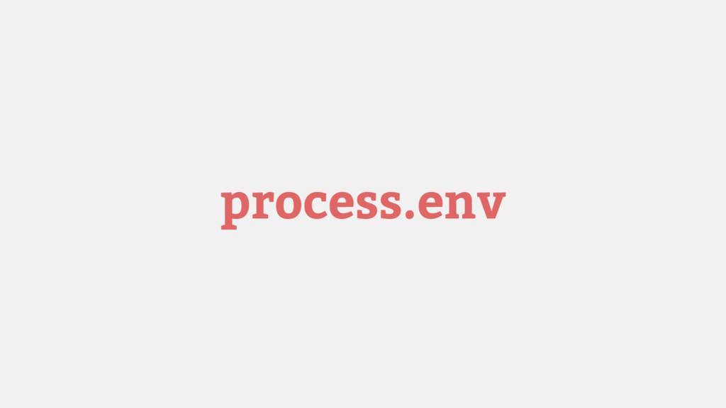 process.env