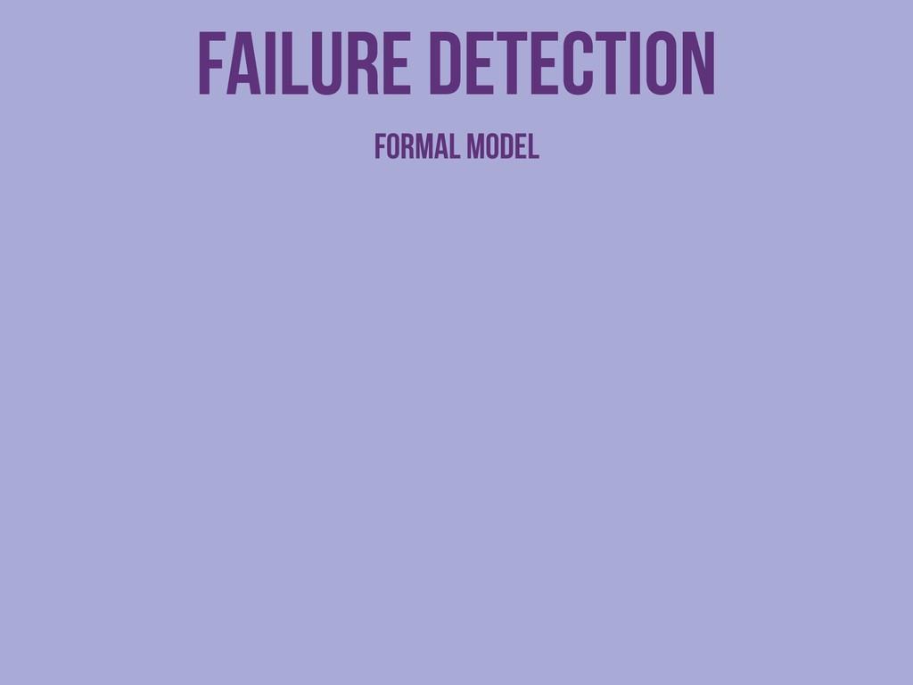 Failure detection Formal model