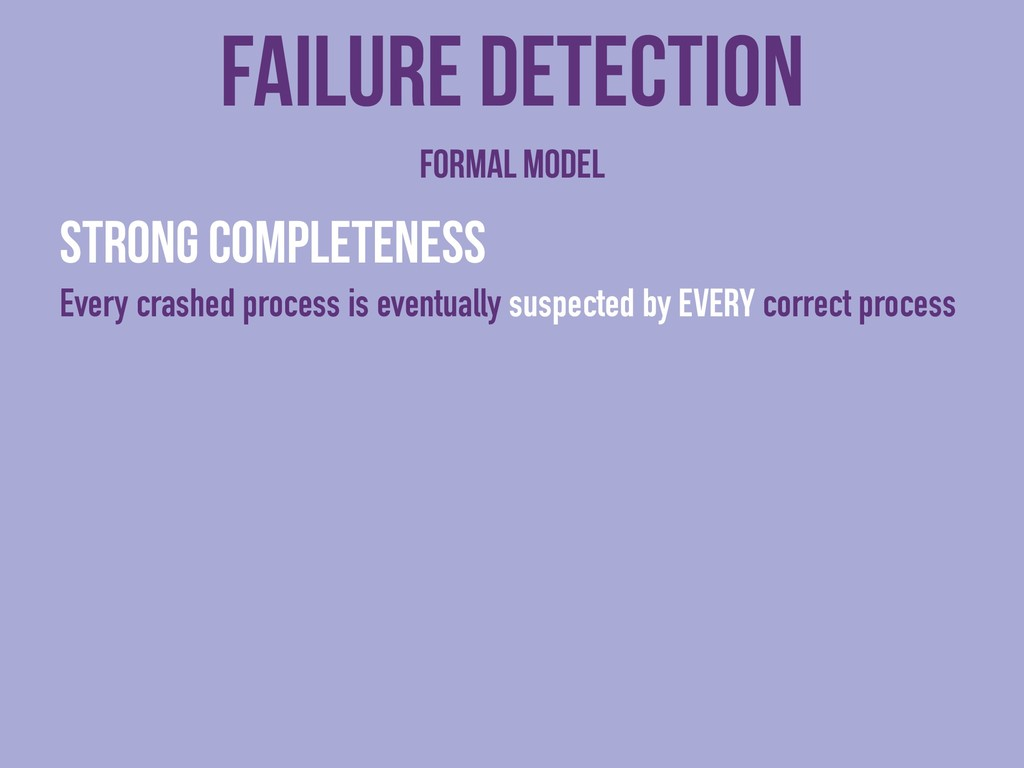 Strong completeness Every crashed process is ev...