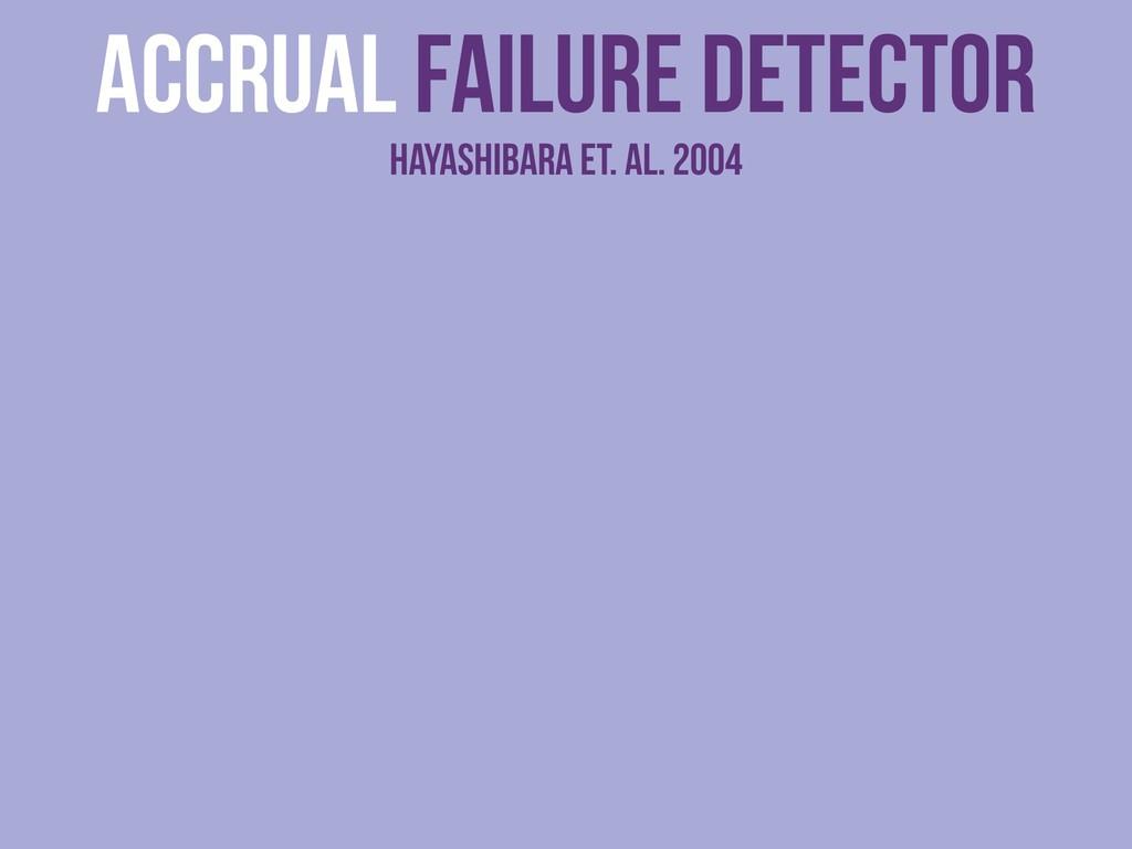 Accrual Failure detector Hayashibara et. al. 20...