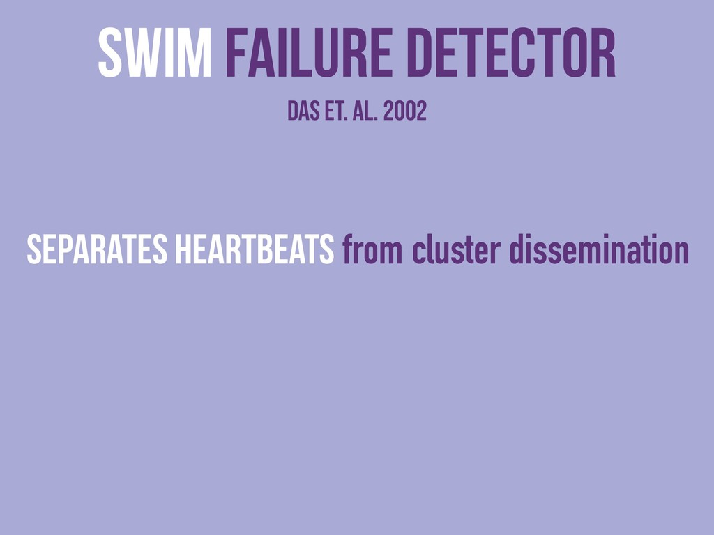 SWIM Failure detector das et. al. 2002 Separate...