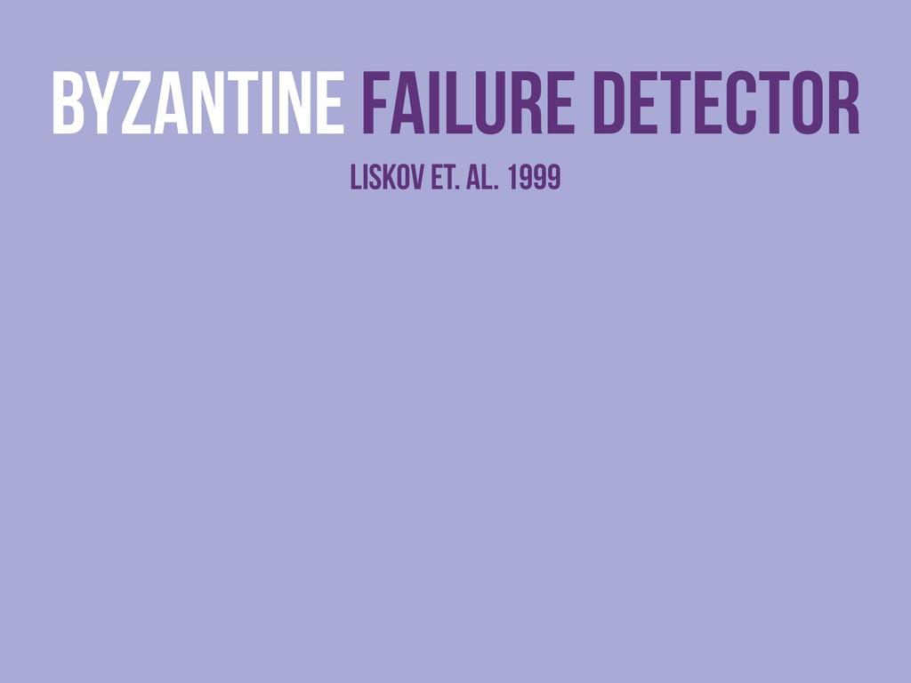 byzantine Failure detector liskov et. al. 1999