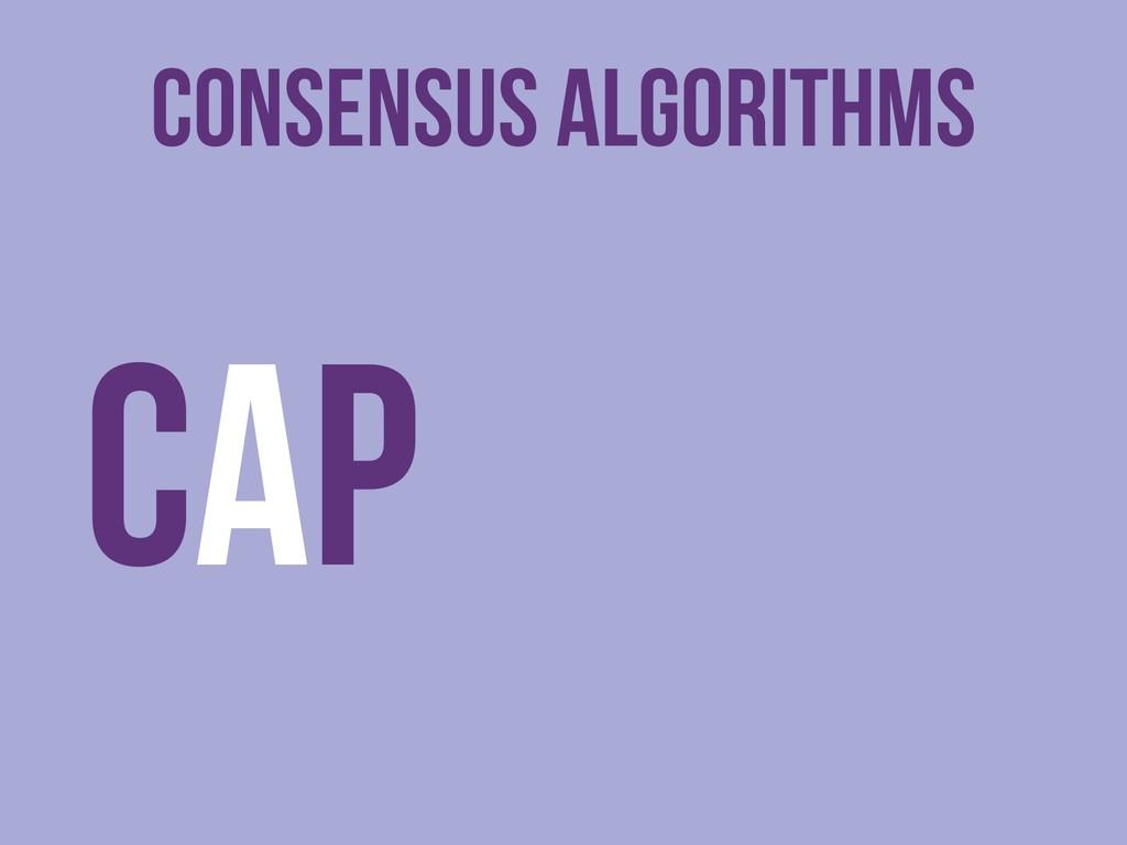 Consensus Algorithms CAP