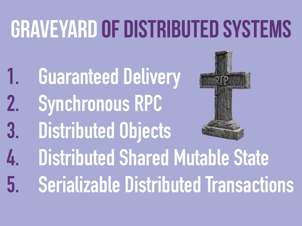 1. Guaranteed Delivery 2. Synchronous RPC 3. Di...