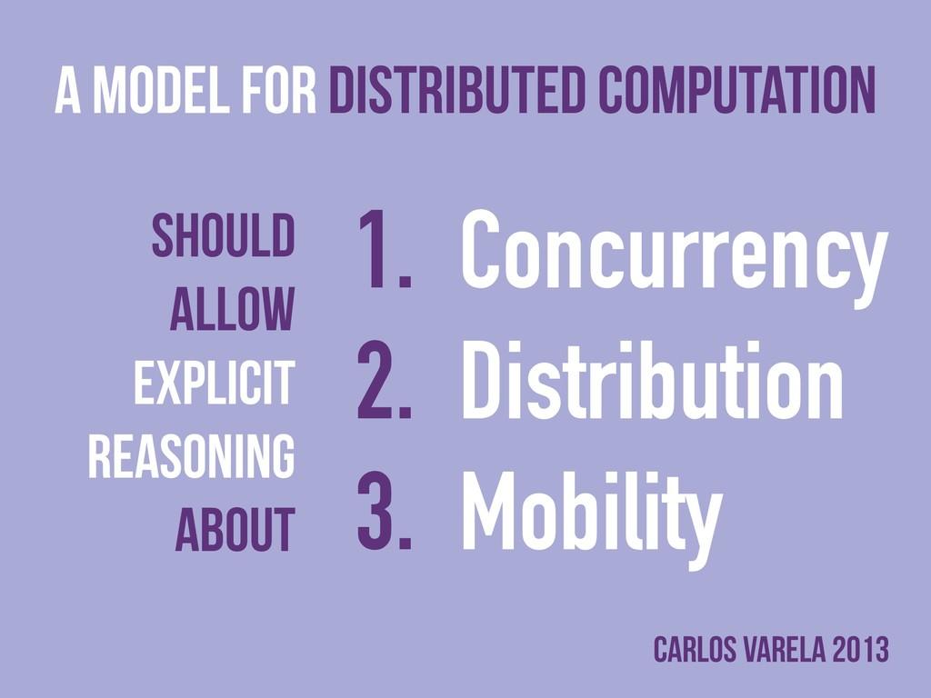 A model for distributed Computation Should Allo...