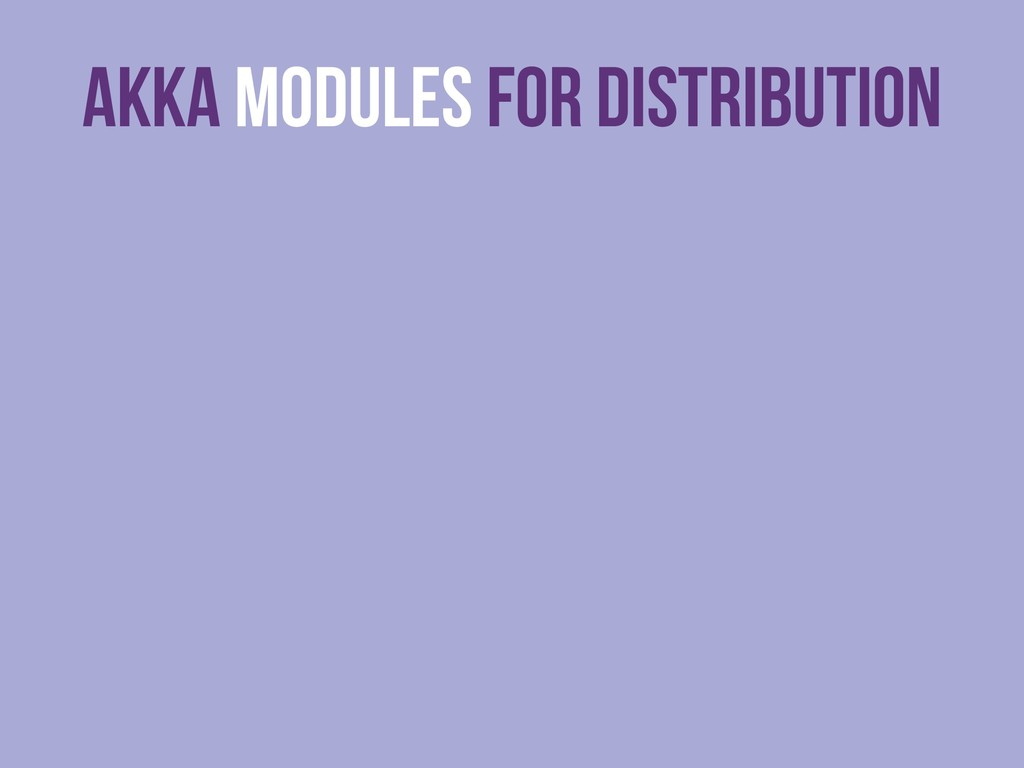 Akka Modules For Distribution