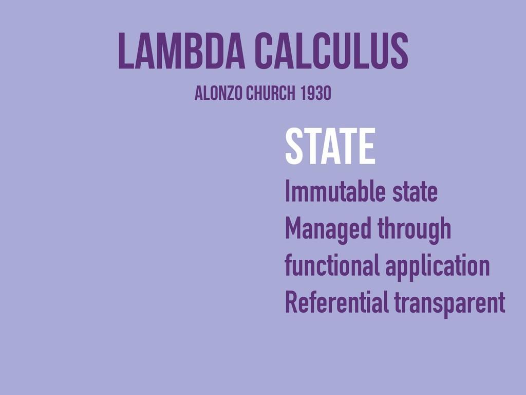Lambda Calculus state Immutable state Managed t...