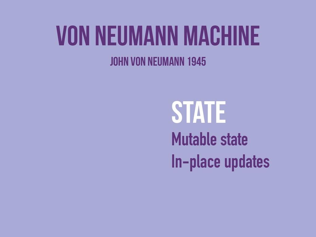 Von neumann machine state Mutable state In-plac...